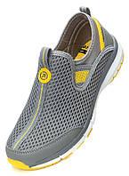 Весенние - летние кроссовки сетка, серые. Размеры 42, 43, 44. Restime 20820.