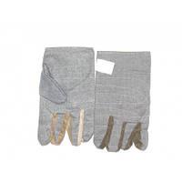 Перчатки из плотной натуральной ткани прошитые