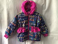 Куртка ветровка на девочку 3-6 лет Матрешка темно синяя