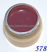 Гель-краска CANNI 5мл №578 темная пастельно-лиловая, фото 1