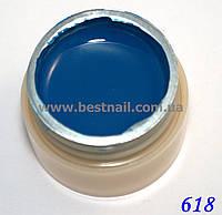 Гель-краска CANNI 5мл №618 сине-зеленая, фото 1
