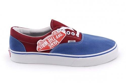 Мужские кеды Vans Era красно-синие, фото 1