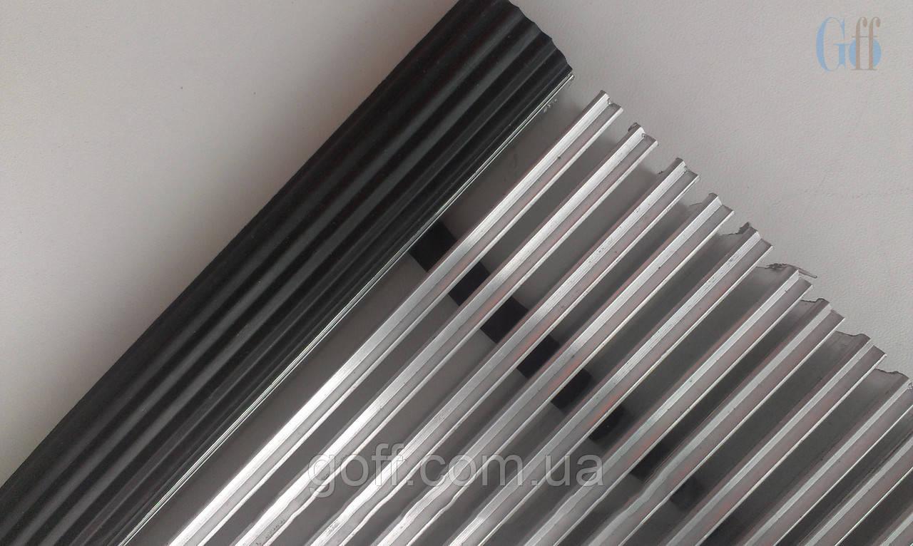 Алюминиевая наружная решетка «Лен» скребок