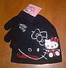 Вязанная демисезонная шапочка Hello Kitty