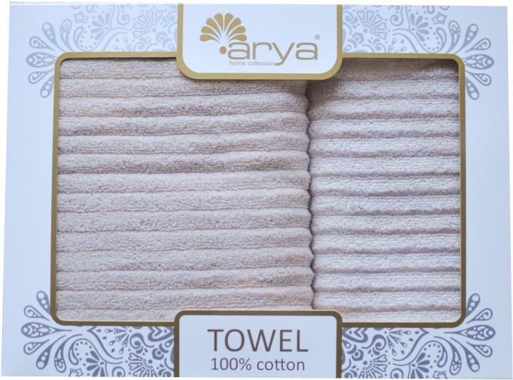 Набор полотенец для лица и тела Arya Melange 50*90 см + 70*140 см махровые жаккардовые банные в коробке