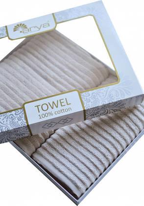 Набор полотенец для лица и тела Arya Melange 50*90 см + 70*140 см махровые жаккардовые банные в коробке, фото 2