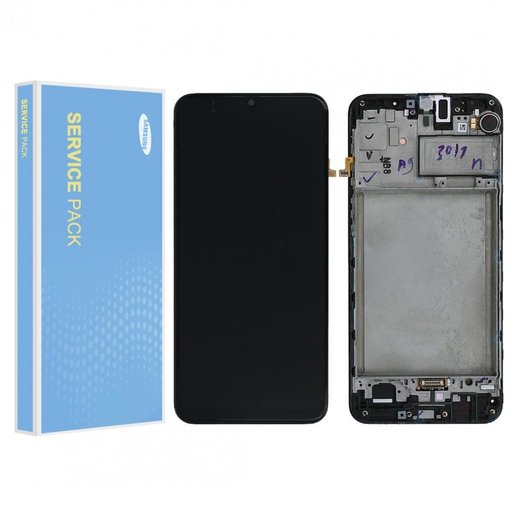 Дисплей (LCD) Samsung GH82-21265A M307 Galaxy M30s (2019) Amoled с тачскрином и рамкой, черный (сервисный оригинал)