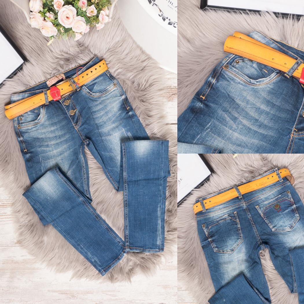3030 Esqua джинсы женские с царапками синие весенние стрейчевые (26,27,27,28,29,30,31, 7 ед.)
