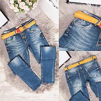 3030 Esqua джинсы женские с царапками синие весенние стрейчевые (26,27,27,28,29,30,31, 7 ед.), фото 1