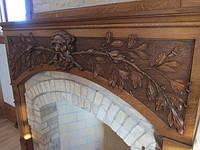 Каминный портал из массива дерева, фото 1