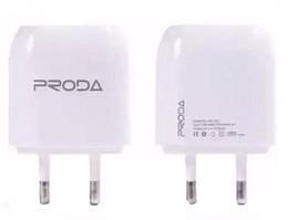 Сетевое зарядное устройство Remax Proda RP-U21 1.0A ( 2 USB) white