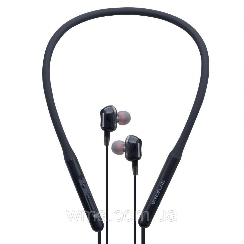 Наушники беспроводные (Bluetooth гарнитура) Borofone BE31 Цвет Чёрный