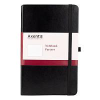 Книга записная Axent Partner Lux 125*195 96л кл черный 8202-01-A