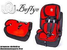 Детское автокресло BeFlye универсальное группа 1/2/3 вес ребенка 9-36 кг красный