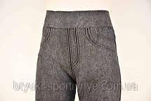 Лосины женские Широкий пояс серые  размер XL - XXL - брак, фото 2