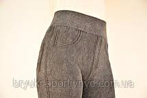 Лосины женские Широкий пояс серые  размер XL - XXL - брак, фото 3