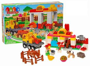 Детский конструктор JDLT 5206 Ферма 61 деталь