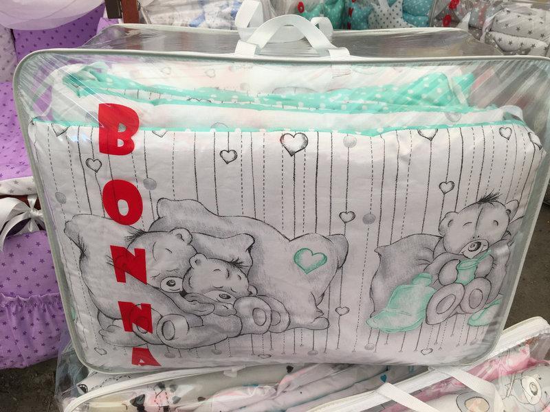 Детское постельное бельё в кроватку ТМ Bonna купон Бирюзовое