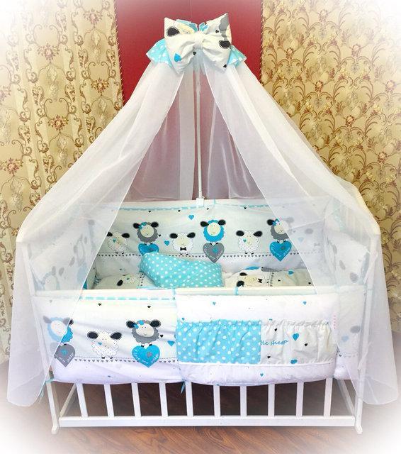 Детское постельное бельё в кроватку ТМ Bonna купон Голубое