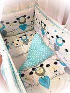 Детское постельное бельё в кроватку ТМ Bonna купон Голубое, фото 2