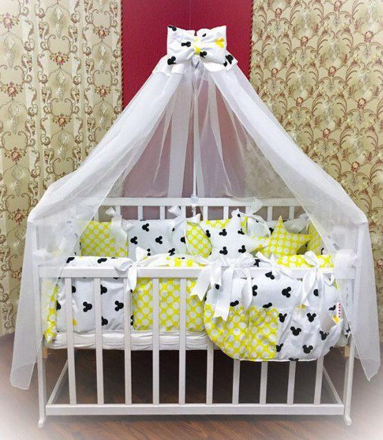 Детское постельное белье в кроватку ТМ Bonna Elite Желтое