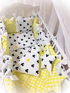 Детское постельное белье в кроватку ТМ Bonna Elite Желтое, фото 2