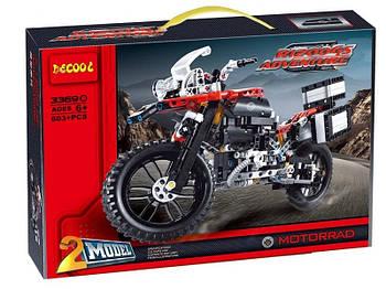 "Конструктор Decool 3369B (аналог Lego Technic 42063) ""Приключения на BMW R1200 GS"" 603 детали"