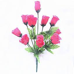 Букет роза бутон, 40см (10 шт в уп)