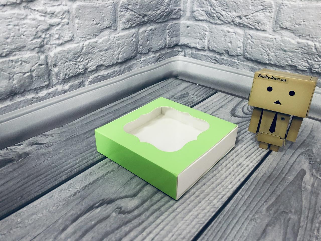 *50 шт* / Коробка для пряників / 120х120х30 мм / друк-Салат / вікно-звичайн