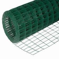 Сетка сварная в рулонах (цвет зеленый) 50*50мм h-1,5м l-10м