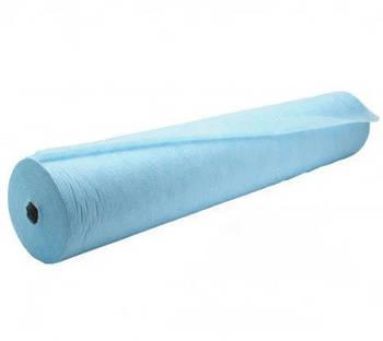 Простынь одноразовая, голубая, 0.6м 100м, рулон