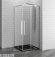 Душевая кабина Dusel DL194 Chrome 90х90х190 без поддона, прозрачное стекло, TR-50191TR-50191