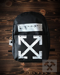Спортивный рюкзак Off White черного цвета (люкс копия)