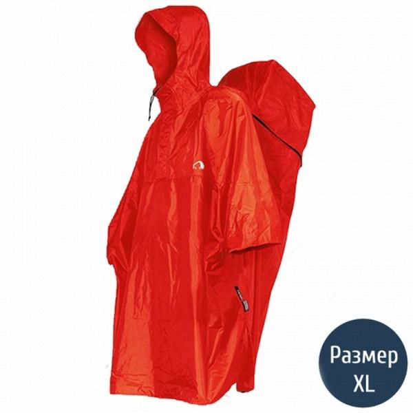 Дощовик-пончо з відділенням для рюкзака Tatonka Cape Men (р. XL), червоний 2798.015