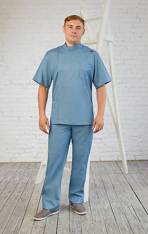 Мужской медицинский костюм Остап - Чоловічий медичний костюм Остап - Костюм для массажиста, фото 2