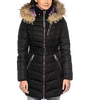 Удлиненный пуховик snowimage q337 черный