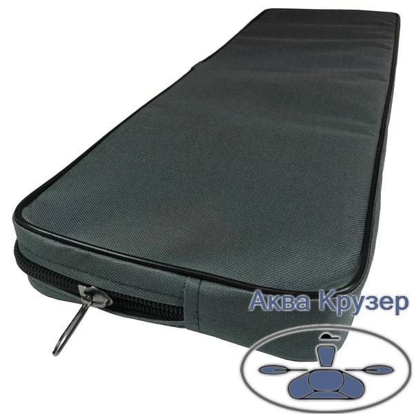 Мягкие накладки 710х200х50 мм на банки сиденье для надувных лодок ПВХ, цвет серый