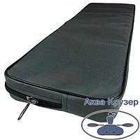 Мягкие накладки 710х200х50 мм на банки сиденье для надувных лодок ПВХ, цвет серый, фото 1