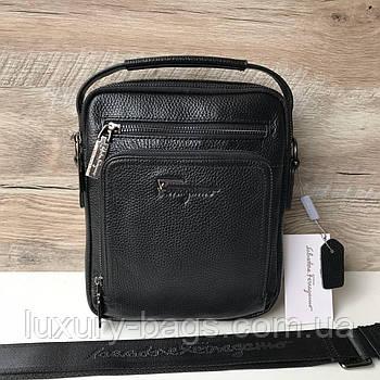 Чоловіча шкіряна барсетка сумка Salvatore Ferragamo