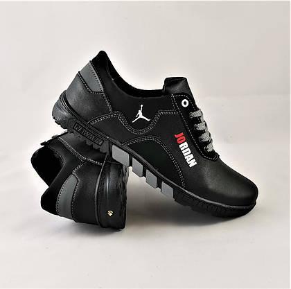 Кросівки JORDAN Чоловічі Чорні Шкіряні Мокасини (розміри: 41,44) Відео Огляд, фото 3