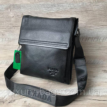 Стильна чоловіча шкіряна сумка Prada