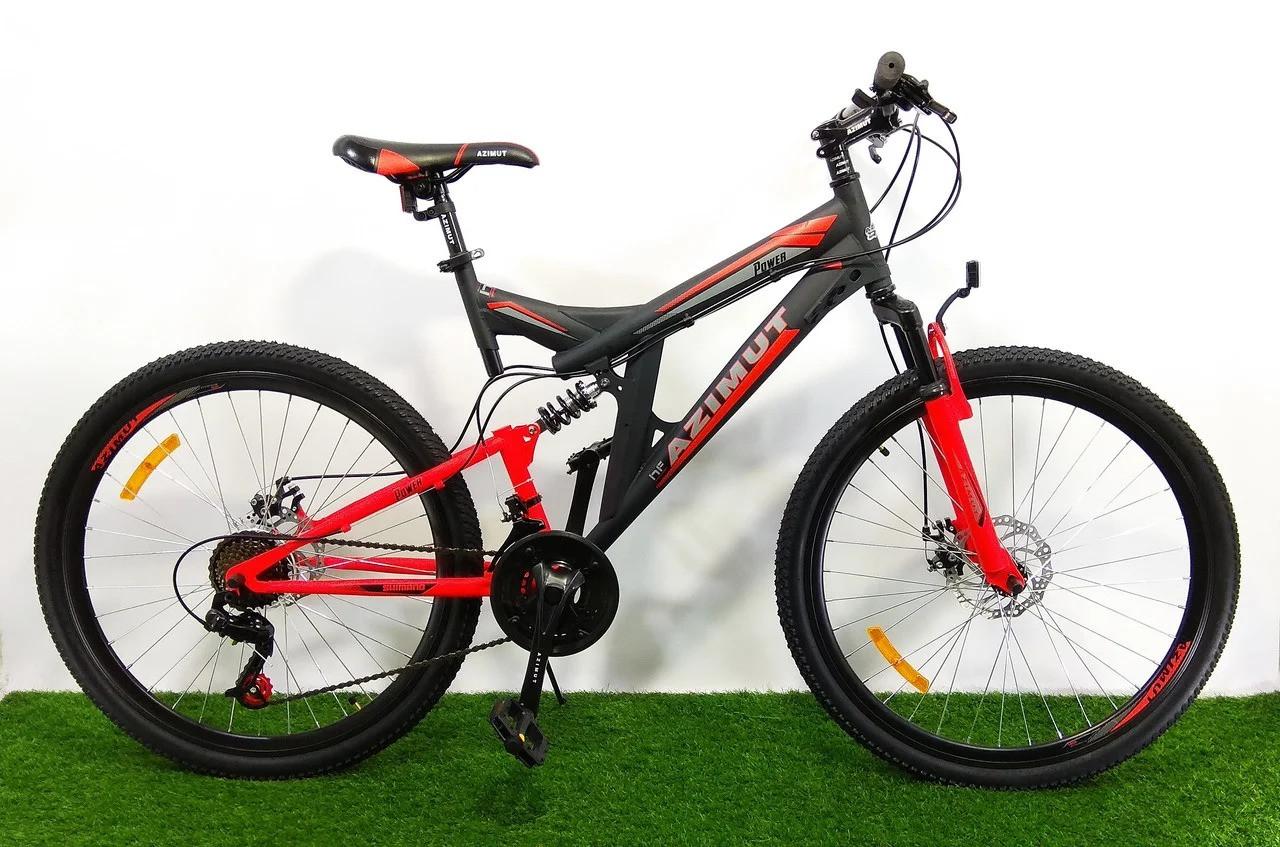 Гірський двопідвісний велосипед Azimut Power 24 GD+