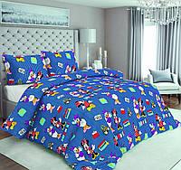 Ткань бязь голд люкс для детского постельного белья Дисней -синий
