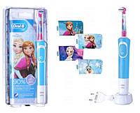Детская электрическая зубная щетка Oral-B Braun D 100 Frozen