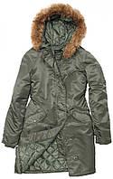 Осенняя женская куртка Natasha Alpha Industries (оливковая)