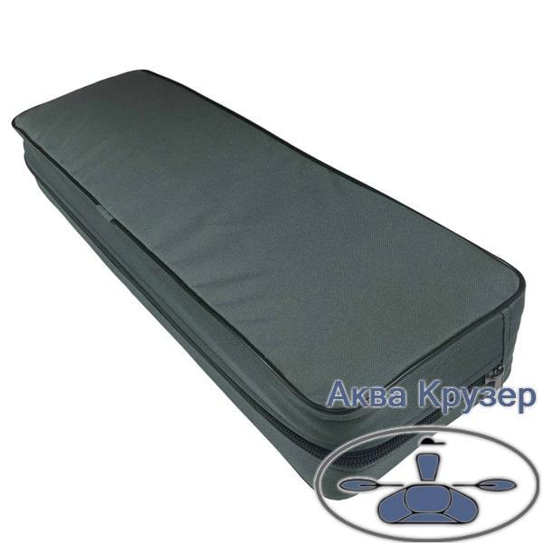 Мягкая накладка 710х200х100 мм на сиденье (банки) надувной лодки ПВХ, цвет серый