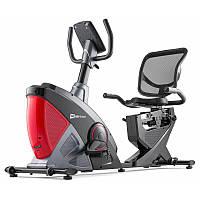 Велотренажер электромагнитный горизонтальныйHop-Sport HS-070L Helix красный iConsole+ для дома и спортзала