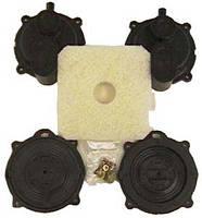 Ремкомплект (мембрана 2шт и клапан 2шт) для компрессоров Secoh EL-S-60, 80-15/17, 100, 120W, 150W, 200W, фото 1
