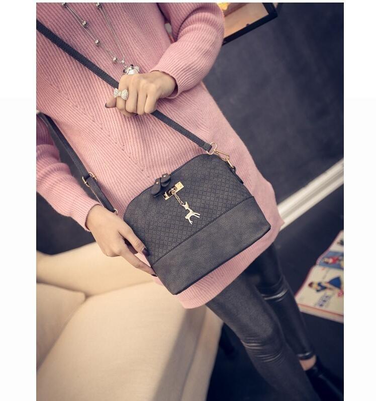 Женская сумка Бэмби серая