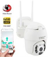 Поворотная уличная IP камера видеонаблюдения N3 WiFi 2 mp 360°